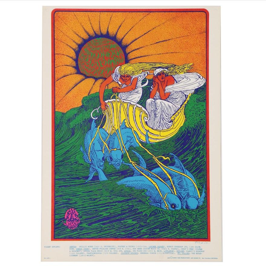 "Bob Fried Offset Lithograph ""Canned Heat, Denver"" 1967"