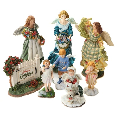 "Pipka ""Earth Angels"" Ceramic Hand-Painted Limited Edition Figurines"