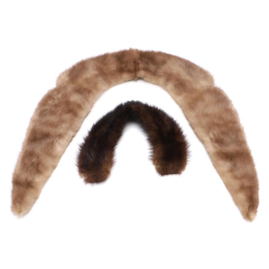 Mink and Sable Fur Collars, Vintage
