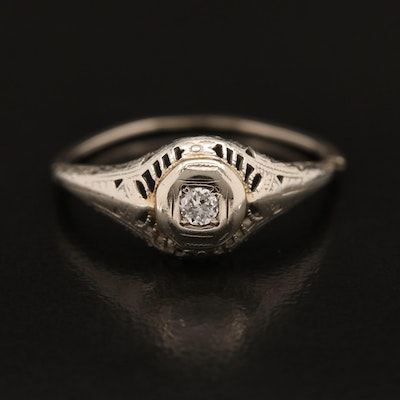 Vintage 18K and 14K Diamond Ring
