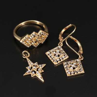 14K Gold Diamond Cut Assorted Jewelry