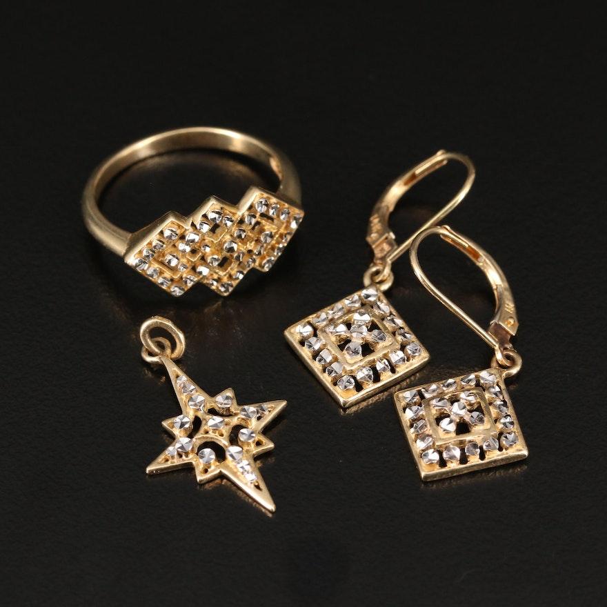 14K Gold Diamond Cut Assorted Jewelry