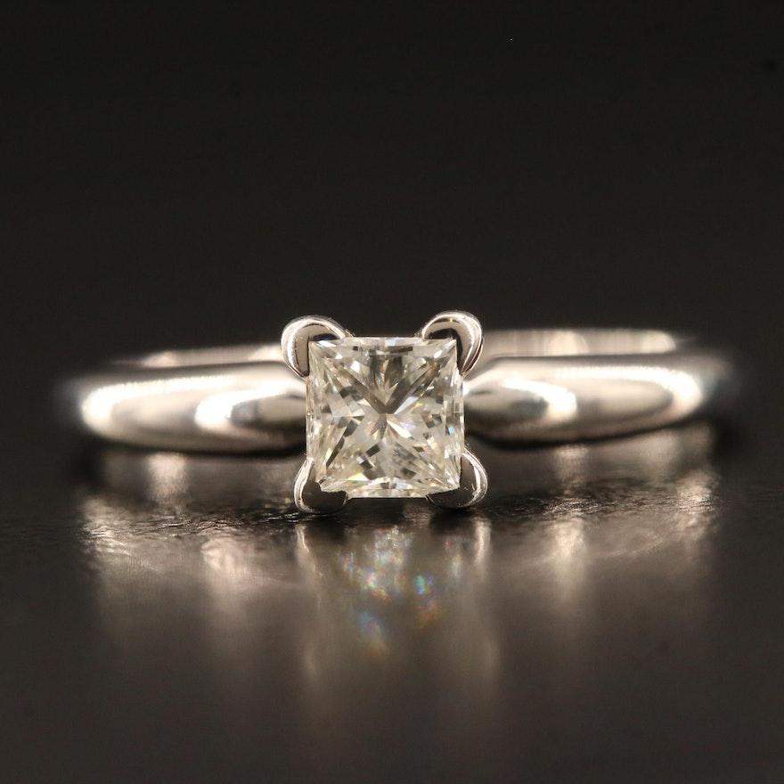 14K 0.37 CT Diamond Solitaire Ring