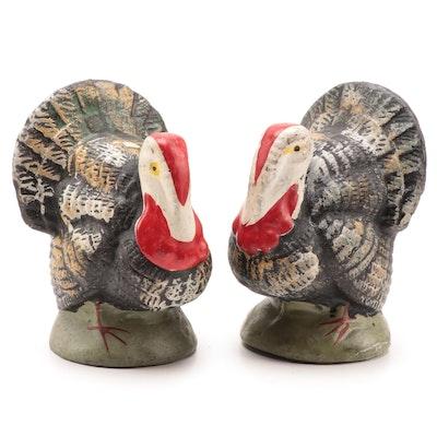 Japanese Ceramic Turkey Figurines, Mid 20th Century