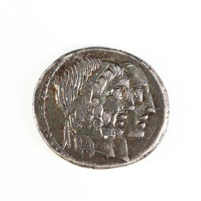 Ancient Roman Republic AR Denarius of C. Censorinus, ca. 88 B.C.