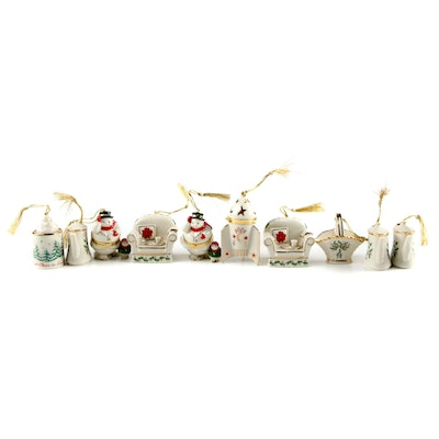 "Lenox Bone China ""Treasures Collection"" and ""Holiday Home"" Ornaments"