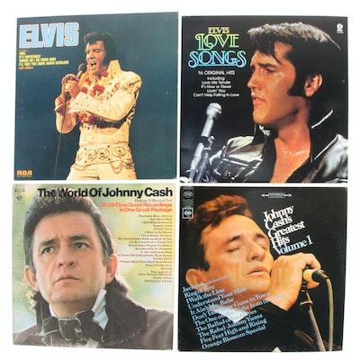 Elvis and Johnny Cash Vinyl Records