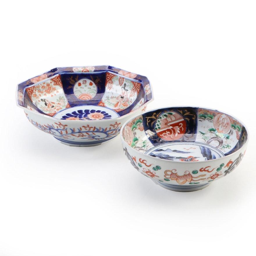 Japanese Imari Porcelain Bowls, 20th Century