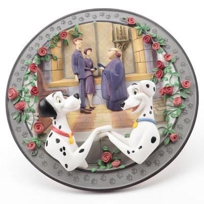 "Disney ""Wedding Bells"" Porcelain Collector Plate with COA"