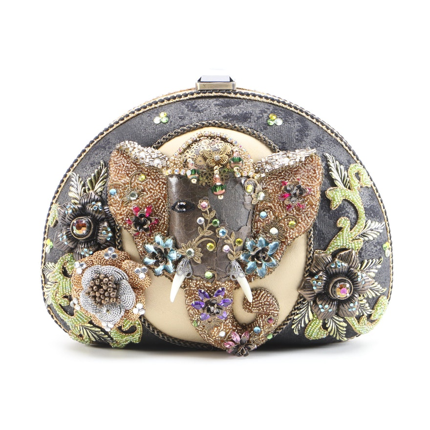 Mary Frances Elephant Quest Embellished Clutch