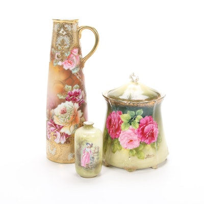 Reinhold Schlegelmilch and Other Hand-Painted Gilt Porcelain Vessels