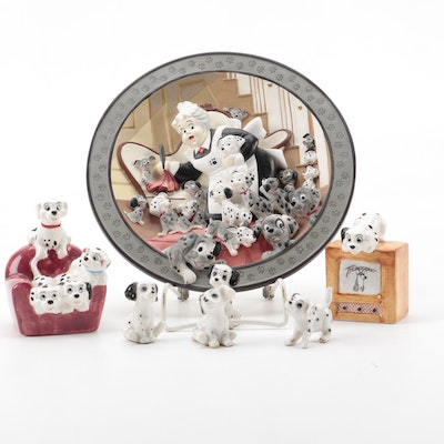 """Disney """"Look, Puppies Everywhere!"""" Porcelain Collector Plate with COA"""