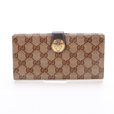Gucci Continental Wallet in GG Monogram Canvas and Leather