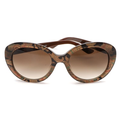 ETRO ET609S Turtle Dove Paisley Sunglasses with Case