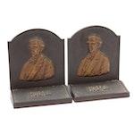 Oliver Wendell Holmes Bronze Bookends