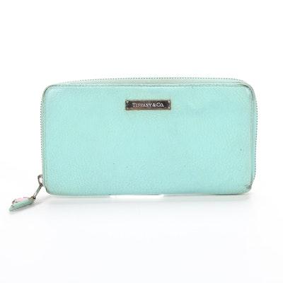 Tiffany & Co. Zip Wallet in Tiffany Blue® Grained Leather