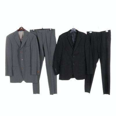 Men's Structure and Hugo Boss Two-Piece Suits