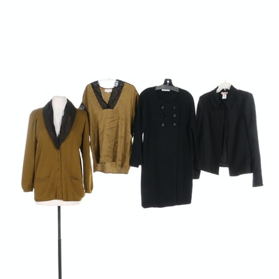 Daniela Gerini and Autumn Cashmere Cardigans with Luca Luca Jacket