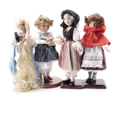 """Knowles China Co. """"Fairy Tales"""" Limited Edition Dolls, 1990s"""