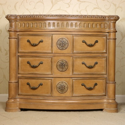 Bernhardt Furniture Blonde Wood Chest of Drawers