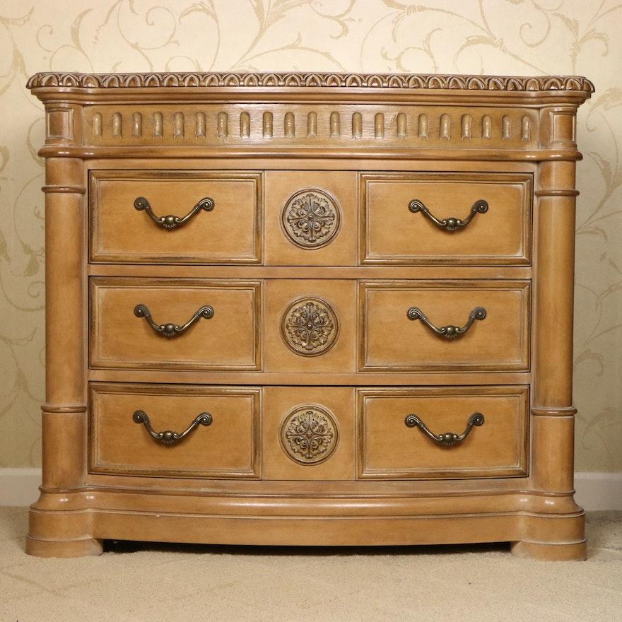 Bernhardt Furniture Blonde Wood Chest of Drawers
