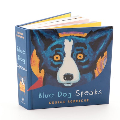"""Blue Dog Speaks"" by George Rodrigue, 2008"