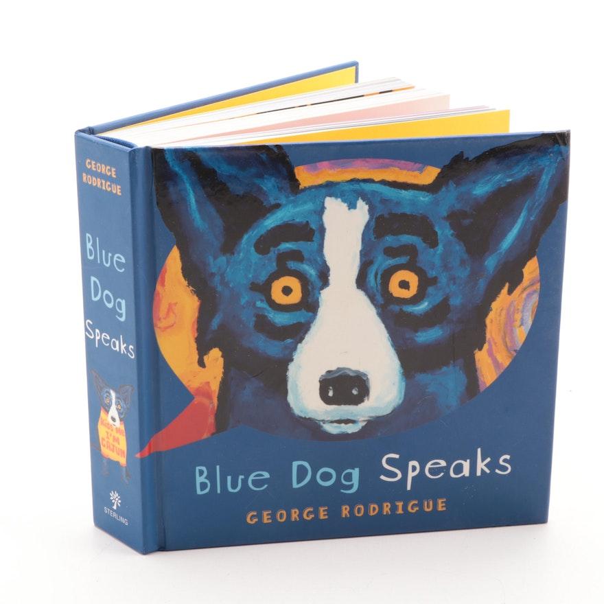 """""""Blue Dog Speaks"""" by George Rodrigue, 2008"""