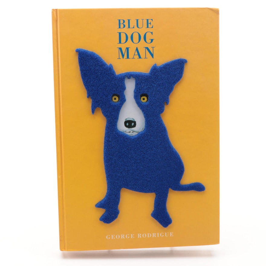 """First Edition """"Blue Dog Man"""" by  George Rodrigue, 1999"""