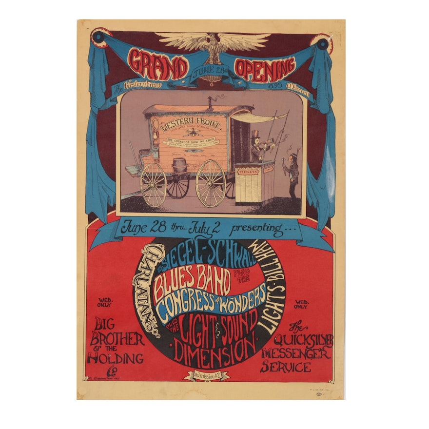 Offset Lithograph of Grand Opening Flyer, 20th Century