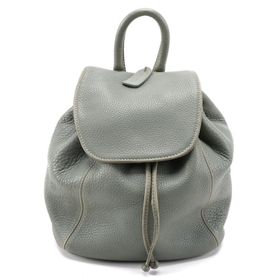 Coach 4911 Pebbled Leather Backpack Purse, Made in Italy