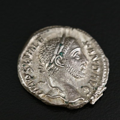 Ancient Roman Imperial AR Denarius of Severus Alexander, ca. 230 A.D.