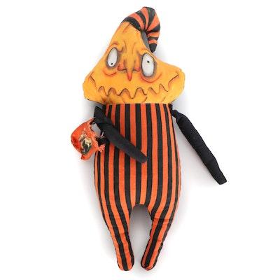 "Debra Klopp Handmade ""Jack O' Lantern"" Halloween Art Doll"