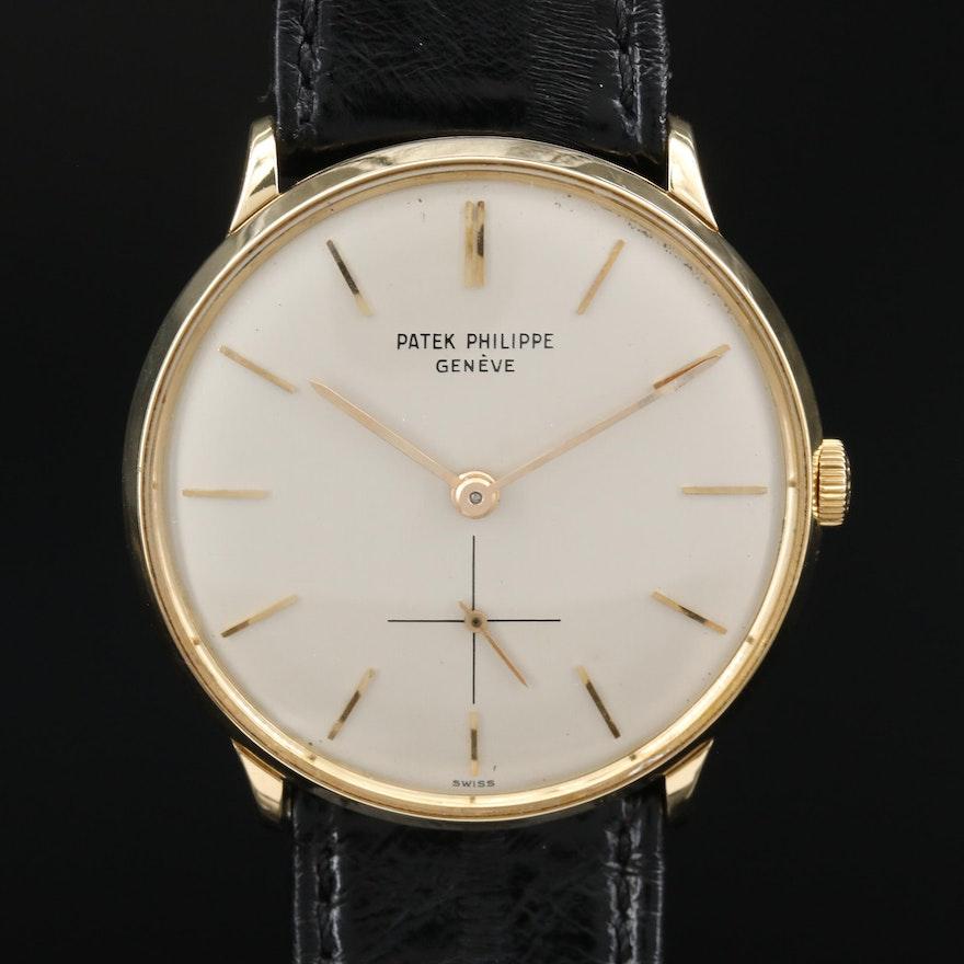 Vintage Patek Philippe Caltrava 18K Stem Wind Wristwatch