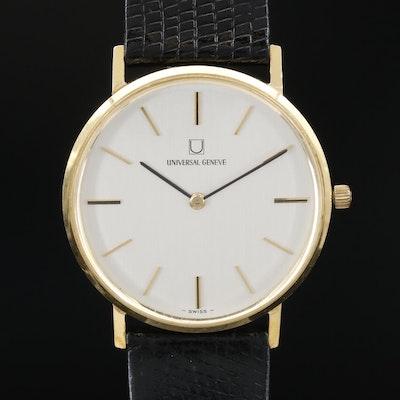 Vintage Universal Geneve 18K Gold Stem Wind Wristwatch