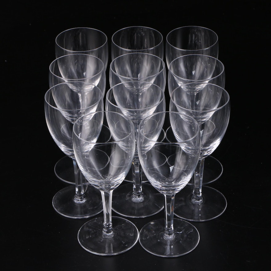 Crystal Port Glasses, Mid to Late 20th Century