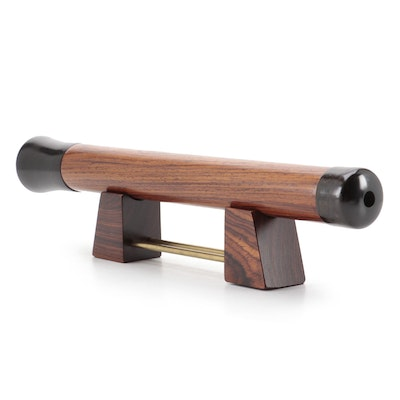 """Rosewood, Ebony and Brass 13"""" Kaleidoscope with Stand"""