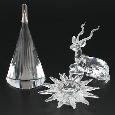 "Swarovski Crystal ""Solaris"" Candle Holder with ""Solifor"" Bud Vase and More"