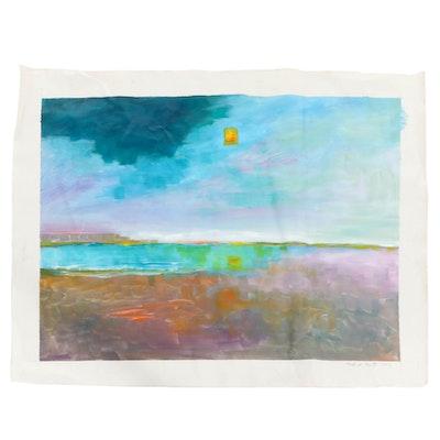 "Roland Ray Acrylic Painting ""Desolate Sun,"" 2006"