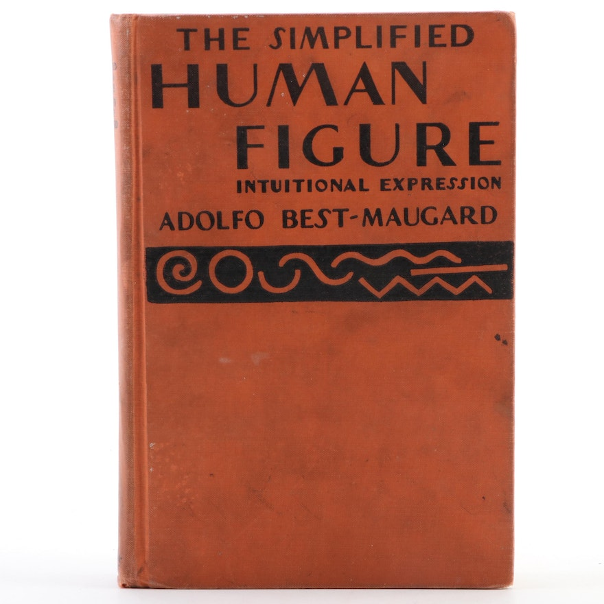 """First Edition """"The Simplified Human Figure"""" by Adolfo Best-Maugard, 1936"""