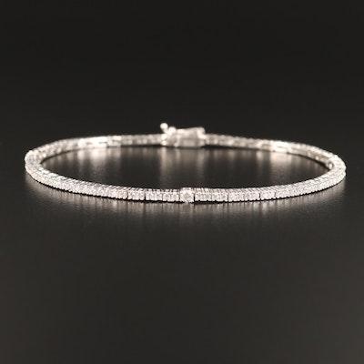 Sterling Prong Set Cubic Zirconia Line Bracelet