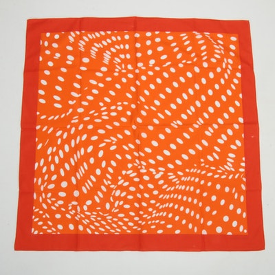 Hermès Paris Patterned Cotton Scarf