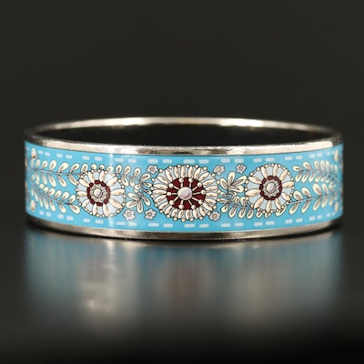Hermès Enamel Floral Bangle