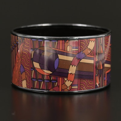 Hermès Enamel Geometric Bangle