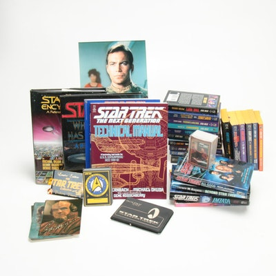 Star Trek Books, Post Cards, Film Cells, Trading Cards and Other Collectibles