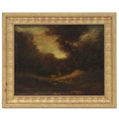 Hudson Mindell Kitchell Tonalist Landscape Painting