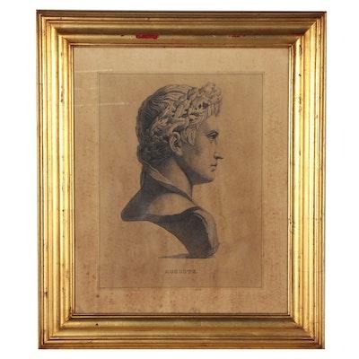 "Lithograph after François Dequevauviller ""Auguste"""