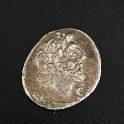 Ancient Roman Republic AR Quinarius Coin of T. Cloelius, ca. 98 B.C.