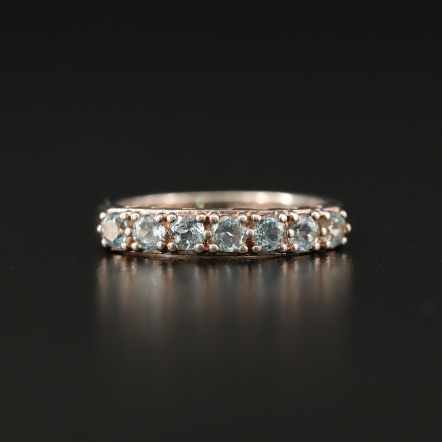 Sterling Topaz Band