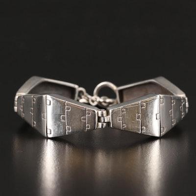 Lisa Jenks Sterling Silver Geometric Link Bracelet