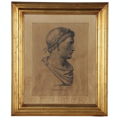 "Lithograph after François Dequevauviller ""Constantin"""